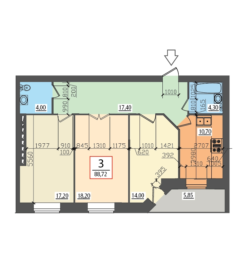 Планировки квартир квадрат схемы